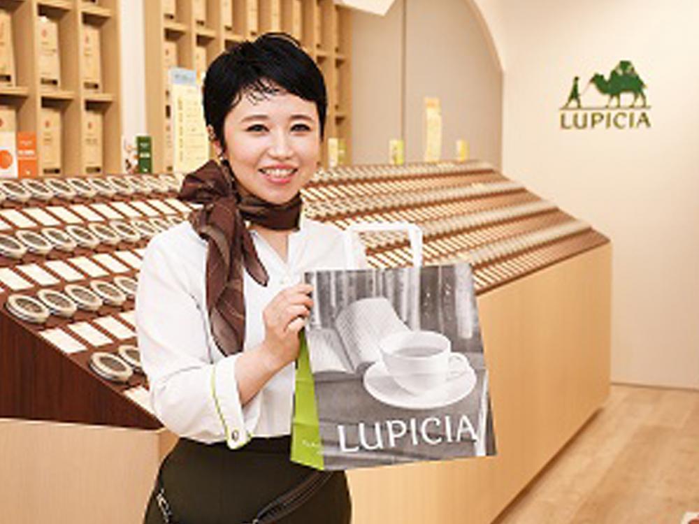 お茶専門店「ルピシア」でのアドバイザースタッフ